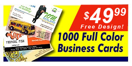 Business Card Promotion, Cheaper than Kinko's